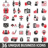 Icone di affari rosse Immagine Stock Libera da Diritti