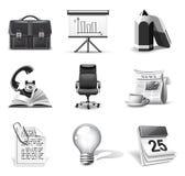 Icone di affari   Serie di B&W Fotografia Stock