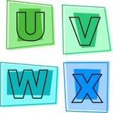 Icone di alfabeto Fotografia Stock Libera da Diritti