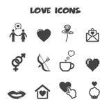 Icone di amore Fotografie Stock