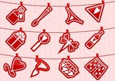Icone di amore di Haning royalty illustrazione gratis