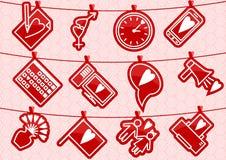 Icone di amore di Haning illustrazione vettoriale