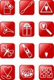 Icone di amore messe illustrazione vettoriale