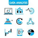 Icone di analisi dei dati Immagine Stock