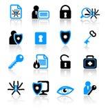Icone di antivirus Fotografie Stock
