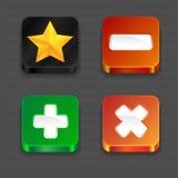 Icone di App Fotografia Stock Libera da Diritti