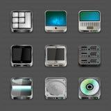 Icone di App Fotografia Stock