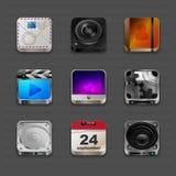 Icone di App Immagine Stock