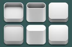Icone di App per le applicazioni del ipad e di iphone. Fotografia Stock Libera da Diritti