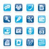 Icone di applicazione e di comunicazione di chiacchierata royalty illustrazione gratis