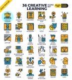 Icone di apprendimento creativo Fotografia Stock