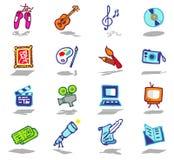 Icone di arti impostate Immagini Stock