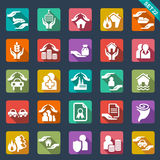 Icone di assicurazione Fotografie Stock