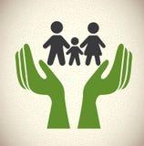 Icone di assicurazione Fotografia Stock