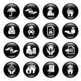 Icone di assicurazione Immagine Stock
