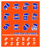 Icone di assicurazione di vettore royalty illustrazione gratis