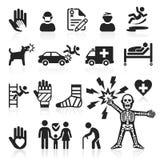 Icone di assicurazione impostate Fotografia Stock