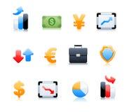 Icone di attività bancarie Fotografia Stock Libera da Diritti