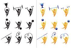 Icone di attività e di sport illustrazione vettoriale