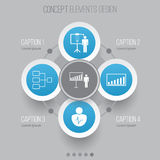 Icone di autorità messe Statistiche di Collection Of Project Presentation, Company, dimostrazione della soluzione ed altri elemen Immagini Stock