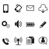 icone di base di app dello smartphone messe Fotografia Stock Libera da Diritti