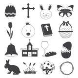 Icone di base di Pasqua messe Fotografia Stock Libera da Diritti