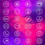 Icone di base di Web Fotografie Stock