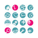 Icone di base di Web del cerchio fotografie stock libere da diritti