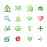 Icone di base di Web della sorgente impostate Fotografia Stock
