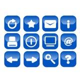 Icone di base di Web stampate in neretto Fotografia Stock Libera da Diritti