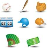 Icone di baseball illustrazione vettoriale