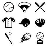 Icone di baseball Fotografia Stock
