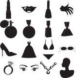 icone di bellezza Immagini Stock Libere da Diritti