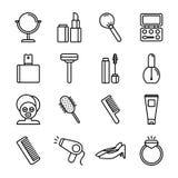 Icone di bellezza & della stazione termale Fotografia Stock