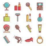 Icone di bellezza & della stazione termale Immagini Stock