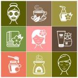 Icone di benessere e della stazione termale Immagine Stock