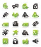 Icone di blogging di Internet Fotografia Stock Libera da Diritti