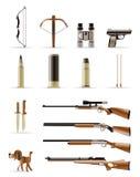 Icone di caccia Fotografia Stock