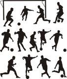 Icone di calcio o di calcio Fotografie Stock Libere da Diritti