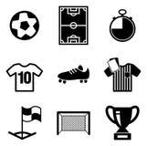 Icone di calcio o di calcio Fotografia Stock