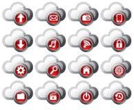 Icone di calcolo della nube royalty illustrazione gratis