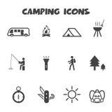 Icone di campeggio Immagine Stock Libera da Diritti