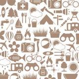 Icone di campeggio Immagini Stock Libere da Diritti