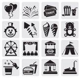 Icone di carnevale Immagine Stock
