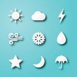 Icone di carta di arte del tempo illustrazione di stock