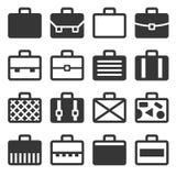 Icone di caso messe su fondo bianco Vettore Fotografia Stock
