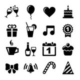 Icone di celebrazione e del partito Fotografia Stock