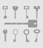 Icone di chiavi messe Fotografia Stock Libera da Diritti
