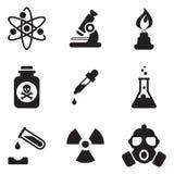 Icone di chimica Fotografia Stock Libera da Diritti