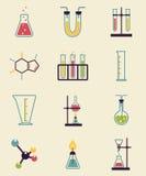 Icone di chimica illustrazione vettoriale